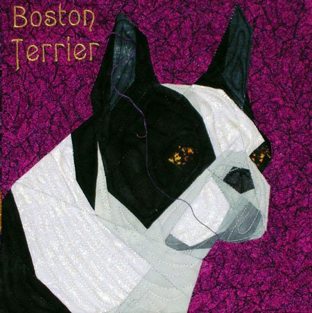 Crochet Acrylic Boston Terrier/Frenchie Pillow - Modern