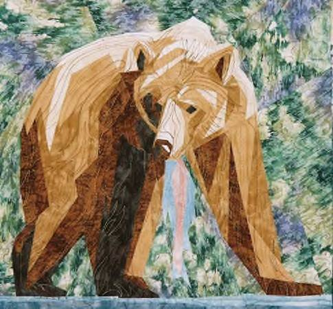 Silver Linings Quilting Pattern Grizzly Bear